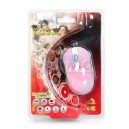 USB Optical Mouse ATAKE (AMX-100RE) Pink/Silver