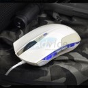 USB Optical Mouse E-BLUE (EMS108WH) Gaming White/Silver